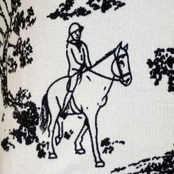 もっちり肌触りの乗馬柄カーディガン