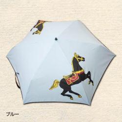 駆ける馬柄 折りたたみ傘 3色